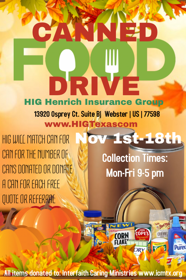HIG - Canned Food Drive
