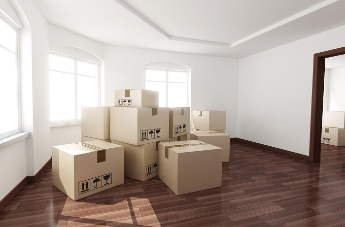 Moving Boxes In New Home
